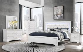 Pompei White Queen Size Bed