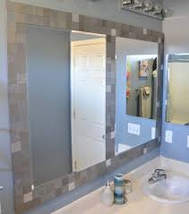 bathroom mirror frame tile. Unique Tile Ely Diy Bathroom Mirror Frame With Tile Design Fresh In Kids Room  Commercial Door On M