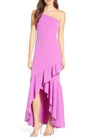 Vince Camuto Dress Size Chart Details About Vince Camuto Vc9m8863 One Shoulder High Low Gown Sz 12r 188 Orchid