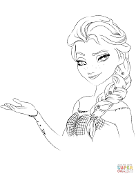 Elsa Frozen Coloring Page Comfortable The Pages Free Pertaining To 5