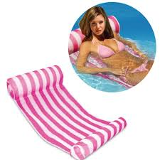 inflatable pool furniture. 3 Color Stripe Outdoor Floating Sleeping Bed Water Hammock Lounger Chair Float Inflatable Air Mattress Swimming Pool Furniture