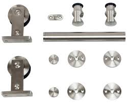 Sliding Door Hardware | 9400 Series Stainless Barn Door | Hager