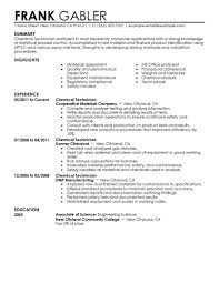 Chemical Technician Resume Best Chemical Technicians Resume Example LiveCareer 1