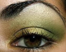 tutorial gold and green eyeshadow easy makeup how to