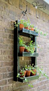 wood planter for the wall shanty 2 chic pertaining to outside planters remodel 17