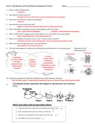 Bacteria And Viruses Venn Diagram Unit 8 Classification And Viruses Bacteria Independent