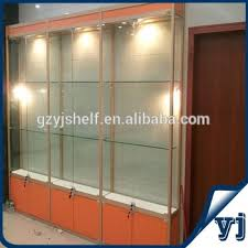 Free Standing Display Cabinets Free Standing Lockable Glass Display Cabinetstower Glass Vitrine 63