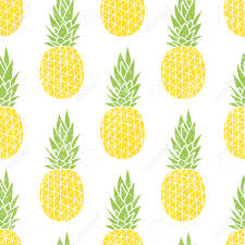 cute pineapple. cartoon pineapple on a white background. simple cute summer pattern. seamless textile e