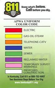 Apwa Uniform Color Code Chart Before You Dig Morehead Utility Plant Board