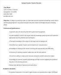Sample Resume English Teacher Resume Web
