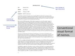 Elements Of Document Design With Special Attention To Memo Format