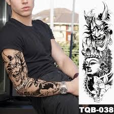 новый 1 шт временные татуировки стикер будда и дьявол стильные