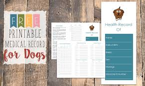 Printable Dog Vaccination Chart Free Printable Medical Record For Dogs Tastefully Eclectic