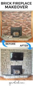 brick fireplace makeover stone veneer fireplace stone veneer over brick stone fireplace with