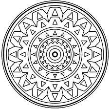 Small Picture Simple Mandala Coloring Book Coloring Pages
