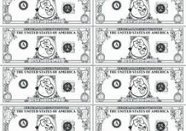 One Dollar Bill Coloring Page Money Coloring Pages Pdf Coloring