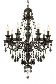 all crystal jet black venetian style 7 light by gallerylighting