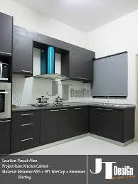 melamine abs kitchen cabinet puncak alam