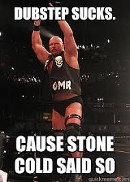 Dubstep sucks. Cause STONE COLD SAID SO - Stone Cold Steve Austin ... via Relatably.com