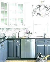 marble and glass gray white kitchen subway tile l shape black cabinet mosaic with grey backsplash
