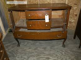 room servers buffets: antique dining room buffet server antique oak bow front paw foot