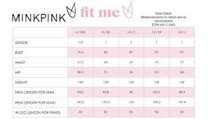 Minkpink Size Chart Sundown Midi Slip