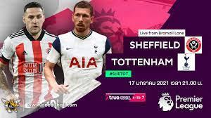 ถ่ายทอดสดฟุตบอล พรีเมียร์ลีก 2020-2021 เชฟฯ ยูไนเต็ด vs สเปอร์ส HD พากย์