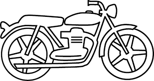Drawn motorcycle simple pencil and in color drawn motorcycle simple