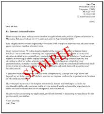 Sample Of Cover Letter For Resume Singapore