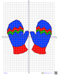 Graphing Worksheets | Four Quadrant Graphing Characters Worksheets