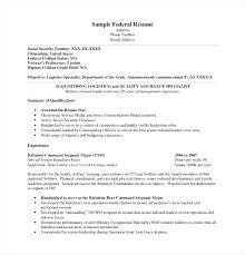 Federal Resume Samples Sample Army Resume Veteran Federal Resume