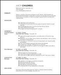 Resum Form Free Professional Fashion Assistant Buyer Resume Template