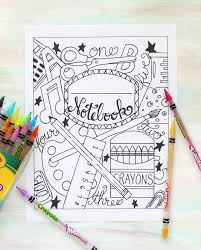 Back To School Notebook Cover Printable Coloring Page The Crafting