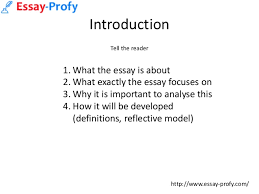 essayprofy how to write a reflective essay