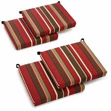 blazing needles all weather outdoor patio chair cushion set of 4