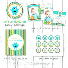 Lil Monster Birthday Invitations Cookie Monster 1st Birthday Invitations Biggroupco Co
