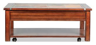 accent and occasional furniture roanoke lift top coffee table slate and cherry