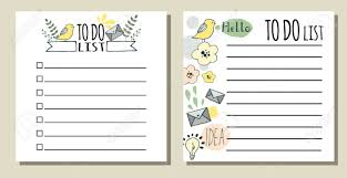 Cute Lists To Do Lists Printable Checklist With Cute Hand Drawn Doodles