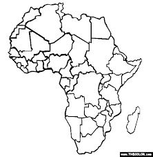 Small Picture Continents Online Coloring Pages Page 1