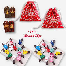 <b>Christmas decorations</b>, mini ornaments, <b>Drawstring</b> Bags, 24pcs ...