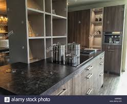 Black Top Kitchen Designs Design Kitchen Interior With Black Top And Induction And