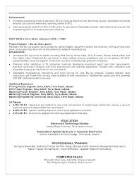 Sample Resume For Electrical Technician Custom Electrical Engineering Technologist Resume Sample Mechanical Gallery