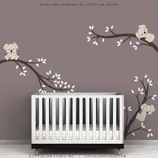kids wall decals modern cute baby room tree sticker
