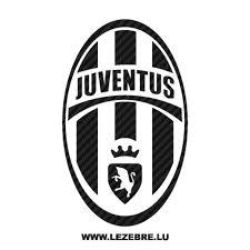 Sticker Karbon Juventus Logo