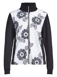 Rohnisch Ladies Swing Golf Jacket Black Maasai Flower
