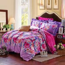 pink purple fl duvet cover sets