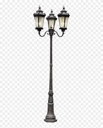 Three Head Street Lantern French Lamp Post Hd Png Download