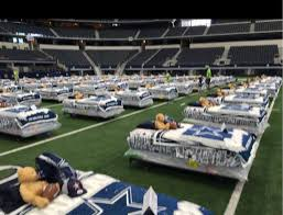 kids have sleepover at Dallas Cowboys AT&T Stadium as part of