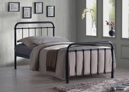 Buy Miami Black Traditional Hospital Style 3FT Single Metal Bed Frame from  our Single Beds range