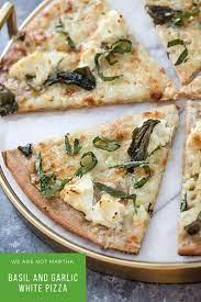 basil and garlic white pizza recipe